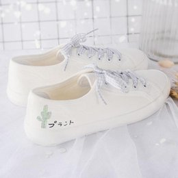 Wholesale Snakers Shoes - Counter quality whilte cotton lace-up women round toe snakers shoes