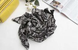 100% шелк новый ComingBig ангел скелет большой черный и белый стерео кисточкой дизайн ручной застежкой шифон шарф шаль от