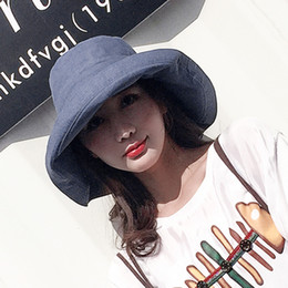 ae31b96d9b8 ZJBECHAHMU Hats Casual Vintage Solid Polyester Sun Hat For Women Girl New  Summer Outdoor beach hat foldable bucket large Caps D18103006