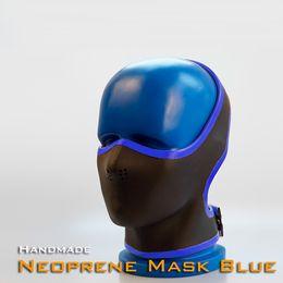 costume pieno bianco del bodysuit Sconti (RD1093) Lusso Personalizzabile Maschera in pelle PU fatta a mano in neoprene spessore 4 mm spessore 0,4 mm blu