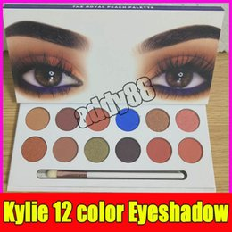 Wholesale Pen Shadow Eyes - 2017 Kylie Eyeshadow The Royal Peach Palette 12 color Kylie Jenners 12color Eyeshadow palette with brush pen Cosmetics Eye shadow Powder