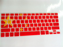Wholesale Five Starred Red Flag the china national flag Silicone Keyboard Cover Skin protector film for Macbook Pro US