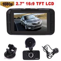 "ночное видение h198 Скидка 2.7"" Car DVR High Definition 1080P 170 Degree Digital Video Recorder Night Vision Dual Lens Dashcam Camcorder Rearview Camera"