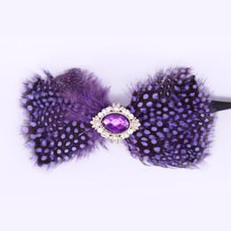 ночные галстуки-бабочки Скидка POSHAWN фиолетовый перо галстуки-бабочки мужчины роскошные 2018 повседневная партия Пром Noeud Papillon горный хрусталь свадьба бабочка Боути мужчины подарок