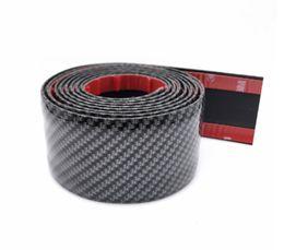 vinyl für auto aufkleber materialien Rabatt 3 cm x 200 cm 5D Kohlefaser Textur Universal Auto Auto Zubehör Styling Einstiegsleisten Kollision Anti-scratch Anti-kick Aufkleber Decals