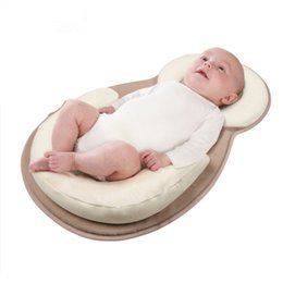 Wholesale baby positioning - Baby Stereotypes Pillow Infant Newborn Anti-rollover Mattress Pillow For 0-12 Months Baby Sleep Positioning Pad Cotton