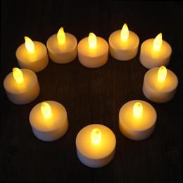2019 velas de tealight led sem chama Flicker Chá Velas de Luz New LED Tealight Sem Chama Bateria Operado para Festa de Aniversário de Casamento Decoração de natal velas de tealight led sem chama barato