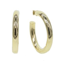 copper pin earrings Coupons - 925 sterlilng silver ear pin ear stud brass gold plated polished smooth hoop classic european women hoop earring