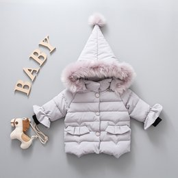 e1e55002e4ac5 Mignon Nouveau-Né Bébé Filles Manteaux À Capuche En Coton D hiver Vestes  Enfants Infant Rembourré Épais Veste Vêtements