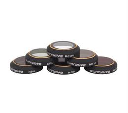 Filtro recubierto online-Lentes de filtro de capas múltiples MCUV / CPL / ND4 ND8 ND8 ND16 ND32 Lente de cámara impermeable transparente para DJI Mavic PRO
