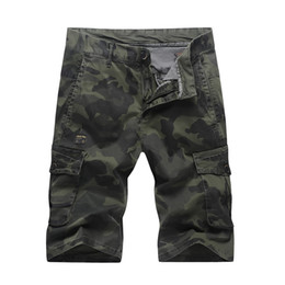 Wholesale military army camouflage shorts - Mens Casual Camouflage Shorts Military Style Leisure Pants Summer Male Outdoor Athletic Shorts with Pockets Free Shipping