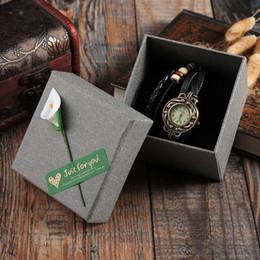 Bijoux de fiançailles Cadeau Kraft Papier Bracelet Bracelet Chaîne Montre Cas de Mariage Boîte Papier Kraft Bracelet Boîte de Montre ? partir de fabricateur