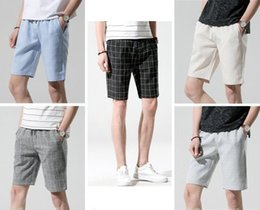 Wholesale plus size knee highs - Men's Plus Size Plaid Summer Fashion Shorts Men's Original Style High Quality Classic Simple High Quality Knee Length Shorts