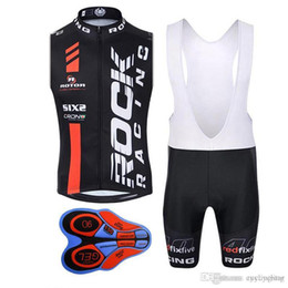 jersey rock Promo Codes - Rock Racing 2017 Pro cycling jersey summer ropa ciclismo mtb bike men cycling clothing bicycle Clothes sleeveless vest bib shorts set G191