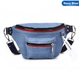 3daad40f1ece9 Waist Bag Women Denim Fanny Pack Ladies Messenger Bags Belt Wallet Money Bag  Canvas Waist Packs Travel Pouch Bag Bolsa Feminina