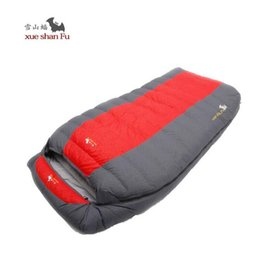 Wholesale Duck Down Filled Sleeping Bag - Double Sleeping Bag adult fill 800G 1200G 1600G 2000G tourism camping equipment White duck down camping couples sleeping bag