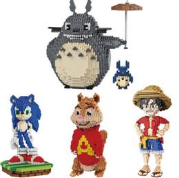 Bonecas de bloco on-line-Mini Diamante DIY Pequenas Partículas Montados Blocos de Construção das Crianças Boneca Educacional Modelo Brinquedos Anime Bonecas frete grátis