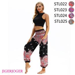 calças rápidas e secas Desconto JIGERJOGER Thai estilo flor Preto 3D impressão rápida seca fina fabic praia legal mulheres soltas calças de perna frete grátis gota STL022