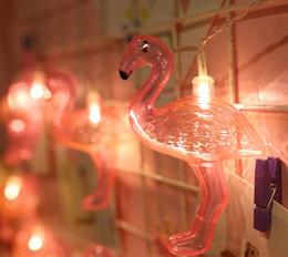 luci fiabesche animali Sconti Flamingo Party Fairy String Lights IndoorOutdoor Wedding Party Capodanno Decorazioni di Natale Fiaba Illuminazione Animali dei cartoni animati