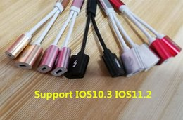 Wholesale New Listen - Support IOS10.3 IOS11.2 New 4In1 Earphone Audio Charge Adapter Cable Listening+Charging+Headset Calling+Headset Controller for iPhone 7 8 X