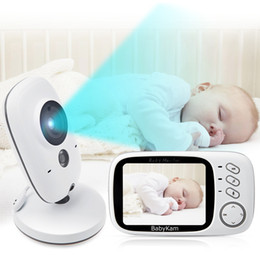 Wholesale wireless digital music - 3.2 inch LCD Wireless Video Baby Camera Monitor Night Vision Nanny Security Camera Temperature Monitoring VOX Babysitter