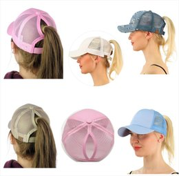 Wholesale Ladies Summer Hats Wholesale - Latest Hot CC Horsetail Baseball Cap Lady Ponytail Hat Fashion Girl Basketball Hat Vest Ponytail Hat.