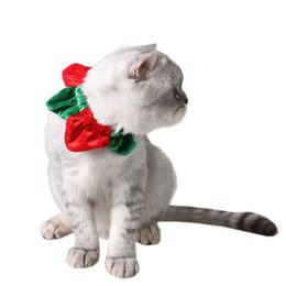 Wholesale free puppy supplies - Halloween Christmas Lovely Pet Collar Scarf Cosplay Clothes Pet Costumes Dog Puppy Cat Supply Free Shipping ZA6587