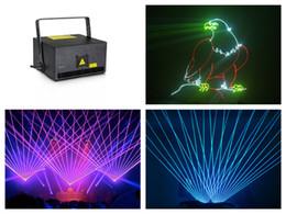 Wholesale laser ilda - RGB 1W Animation Laser Stage Light Show System DJ Disco 20k scanner dmx auto sound ilda sd
