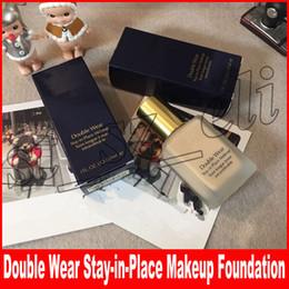 bastões de fundação Desconto Famosa Face maquiagem Double Wear Líquido Fundação Ficar no Lugar de Maquiagem 30 ml Nude Coxim Vara Radiante Maquiagem Fundação 2 Cores para escolher