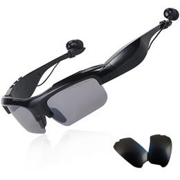 Gafas de sol para auriculares online-Gafas de sol Auriculares Bluetooth Auriculares deportivos inalámbricos Auriculares estéreo sin manos Sunglass Reproductor de música mp3 con paquete al por menor