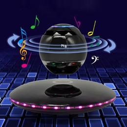 Originalität sieben bunte Lumineszenz Smart Rotation Magnetschwebebahn Bluetooth-Lautsprecher berühren 360 ° Stereo-Surround-Sound langlebig von Fabrikanten
