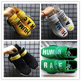 Wholesale Real Peach - 2018 Human Race NMD Factory Real Boost Yellow Red Green Black Orange NMD Men Pharrell Williams X Human Race NMD Running Shoes Sneakers