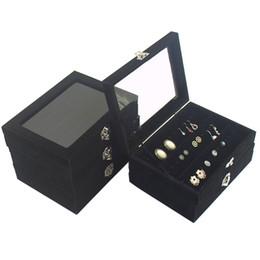 Avec Couverture De Petite Boîte à Bijoux Noir Boîte à Bijoux Anneau Oreille Boucles D'Oreilles Ongles Bracelet Bracelet Collier Accessoires En Gros ? partir de fabricateur