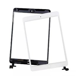 Wholesale Glass Panel Connector - 100% New Touch Screen Glass Panel with Digitizer with ic Connector Buttons for iPad Mini 2 good 2018