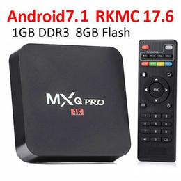 Wholesale Original Android Os - HOT Original MXQ PRO 4K Android TV Boxes 1GB 8GB Amlogic S905W Rockchip RK3229 2choices MXQ PRO Smart tv box 7.1 OS KD 17.6 Fully load