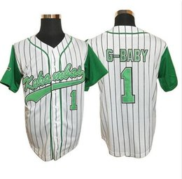 Wholesale Black Evans - men's #1 Jarius G-Baby Evans Kekambas The Movie Hardball DeWayne Warren Baseball Jerseys Size M-XXXL Free Shipping