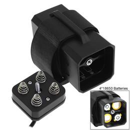Caja de batería impermeable portátil con interfaz USB Soporte de batería 4 x 18650 para bicicleta Luz LED BTY_A03 desde fabricantes