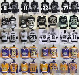 2018 Hockey LA Los Angeles Kings Jerseys 8 Drew Doughty 11 Anze Kopitar 32 Jonathan Quick Jeff Carter Marcel Dionne Luc Robitaille Gretzky desde fabricantes