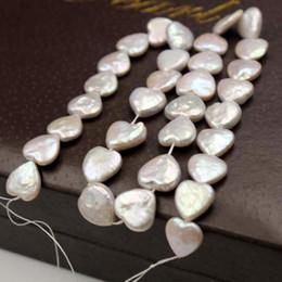 perlenkette herzform Rabatt 100% natürliche Frischwasserperle Herz-förmige barocke Perle für Frauen diy Ohrringe racelet Halskette Art und Weise jewlery Weihnachtsgeschenk