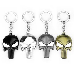 Wholesale halloween keychains - Skull Metal Keychain Portable Ornaments Punishing Key Buckle Soild Color For Car Alloy Fashion Funny Horrible Halloween High Quality Gift 2