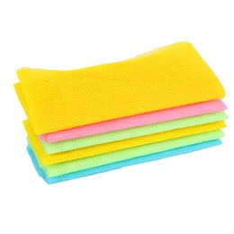 Esfregões de nylon on-line-Nylon Japonês Esfoliante Beleza Pele Banho de Chuveiro Lavagem Pano Toalha de Volta Esfregar Multi Cores 3 Cores