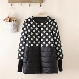 Wholesale Plus Size Polka Dot Coat - 2017 new spring dot jacket women fashion coat padded cotton jacket outwear High Quality Warm parka Women's Clothing Plus Size