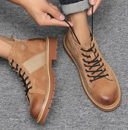 18bf6815caa Autumn and winter new men s leather Martin boots fashion frosted tooling  boots men s Martin shoes high quality