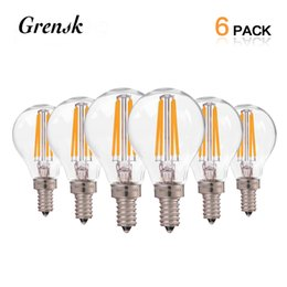Wholesale G45 Lamp - Retro LED Filament Light Bulb 4W E12 E14 Base Edison G45 Clear Style 110V 220V Decorative Lamp Dimmable