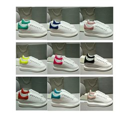 Wholesale sneakers shoes high platforms - 2018 High Quality Mens Womens Designer Luxury Leather Platform Casual Shoes Party Wedding Velvet Heelback Sprorts Sneaker Tennis Skate Shoes