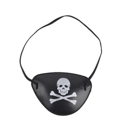 Wholesale Pirate Favor Bags - Pirate Eye Patch Skull Crossbone Halloween Party Favor Bag Costume Kids Toy
