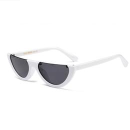 2d267203144d vintage weiße rahmen Rabatt  Weinlesehalbrahmen-Sonnenbrillefrauen-Katzenauge kleine schwarze weiße rote  bunte transparente Schlagsonnenbrille