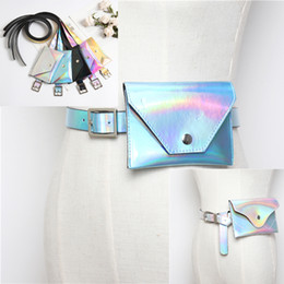 e9a27e05e24a Fashion Unisex Laser PU Leather Waist Bag with belt Waterproof Rainbow  Hologram PU Metallic Silver Fanny Packs Women Waist Bags discount gold metallic  belts ...