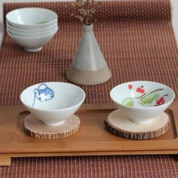 Wholesale Make Table Mats - 30*45CM Natural Bamboo Heat Resistant Mat Bamboo Table Placemats Hand Made Tea Ceremony Accessories Vintage Tea Cup Mat ZA5867