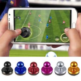 almohadilla de juegos para móviles Rebajas BLACK Mobile Phone Physical Joystick Fling mini Joysticks para iPhone Pad Touch Screen Mobile rocker para SMART